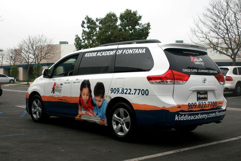 Partial Minivan Wrap for Kiddie Academy   Fontana, CA