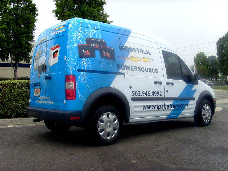 2016 Ford Transit >> Partial Wrap for Industrial Power Source | Santa Fe Springs