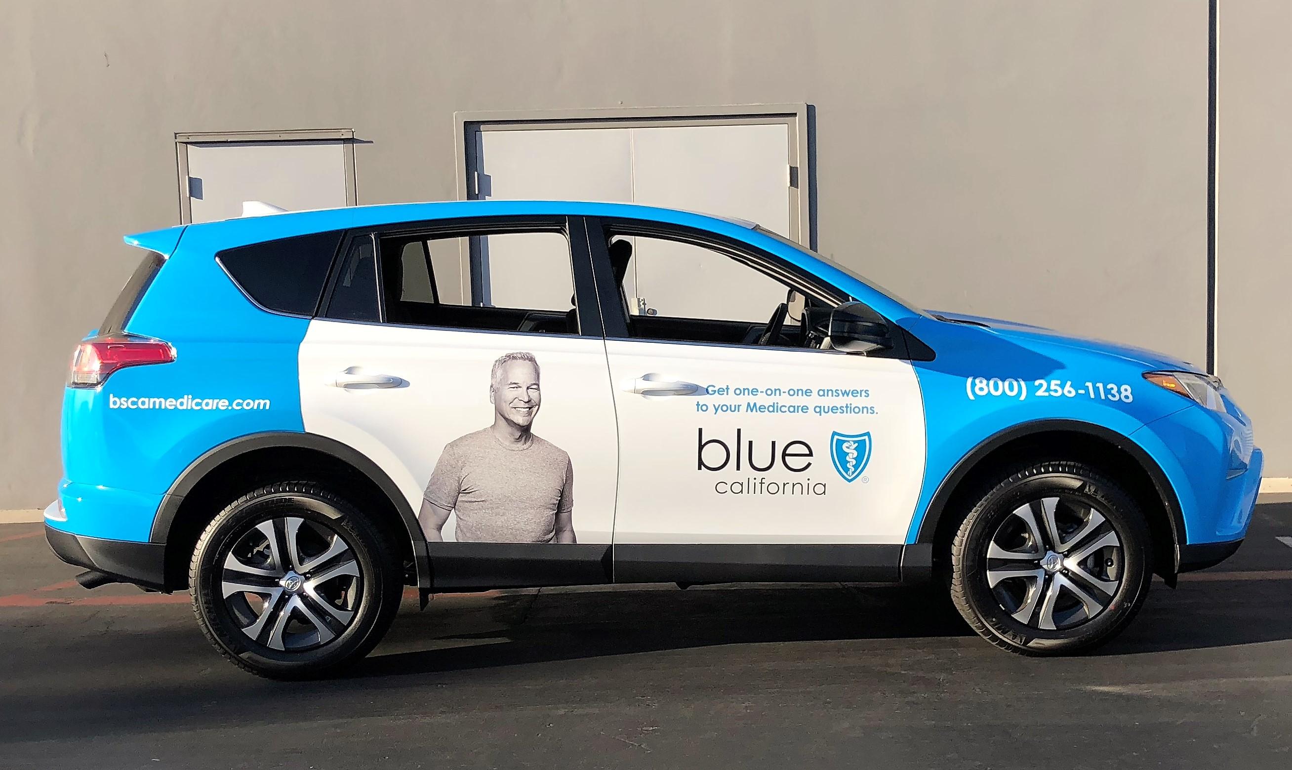 Custom Graphic Wrap Toyota Rav4 For Blue Shield California