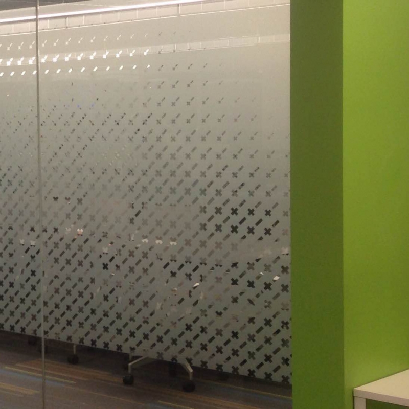 Etched Vinyl As Privacy Film For Glass Walls Roseville Ca